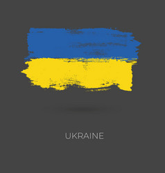 ukraine colorful brush strokes painted national vector image