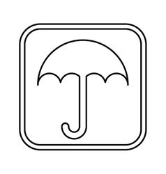 Umbrella packing symbol icon vector