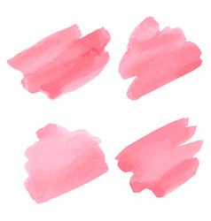 Watercolor brush strokes pink aquarelle abstract vector