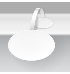 Blank White Round Paper Advertising Price Wobbler vector image