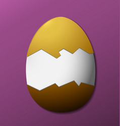brown easter egg without the shell purple vector image