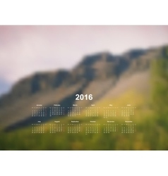calendar monthly 2017 vector image
