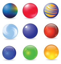set of spheres vector image