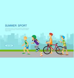 summer sport banner vector image vector image