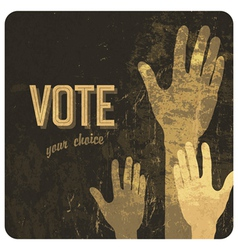voting hands poster vector image