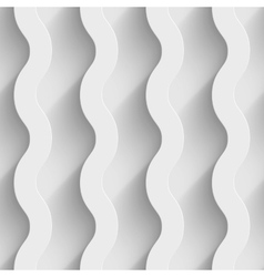 Abstract white paper 3d waves seamless background vector