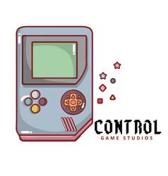 control game studios game boy background im vector image