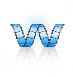 vector film strip vector image