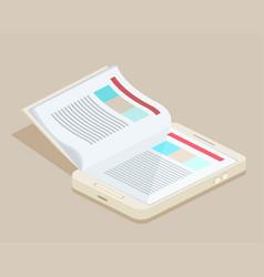 a smart phone e-book vector image