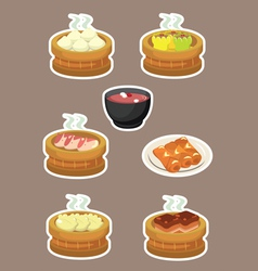 Delicious Dim Sum Chinese Asian Food vector image vector image