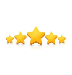 Five stars on white vector image
