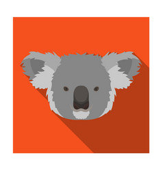 koala icon in flat style isolated on white vector image vector image