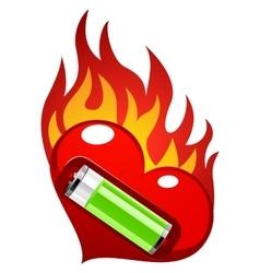 Love energy vector image
