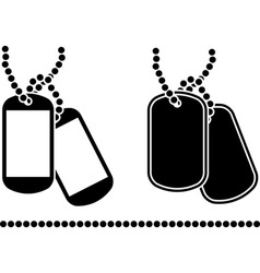 stencils of dog tags vector image vector image