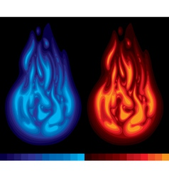 Two flames vector image