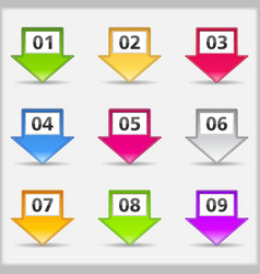 Arrows with numbers vector image