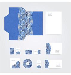 blank corporate identity set vector image vector image