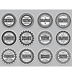 Collection award sticker for design studios vector image vector image