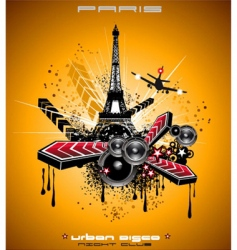 french discotheque vector image