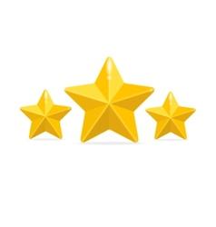 rating three stars concept on black vector image