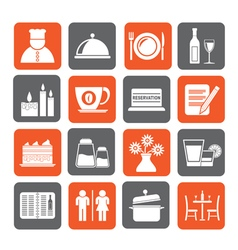Restaurant cafe and bar icons vector image vector image