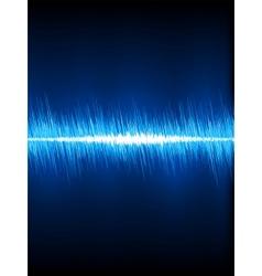 Sound waves oscillating on black EPS 8 vector image vector image