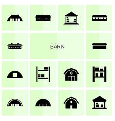 14 barn icons vector image