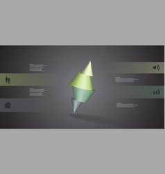 3d infographic template with spiked cone sliced vector