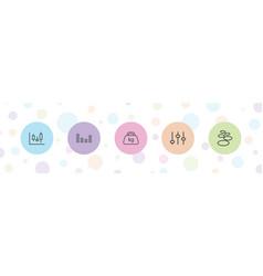 5 balance icons vector