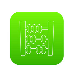 Abacus icon green vector