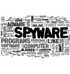 Adware and spyware blocker text word cloud concept vector