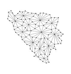 Bosnia and herzegovina map of polygonal mosaic vector