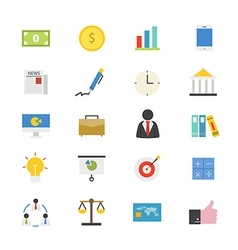 Business and finance flat icons color vector
