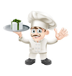 Chef with present vector