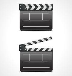 clap board cinema icon vector image