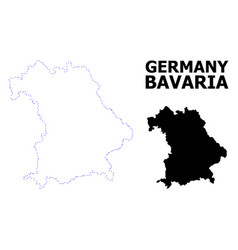 Contour dotted map bavaria state with vector