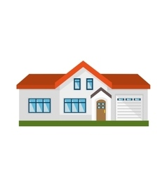 cute house exterior isolated icon vector image