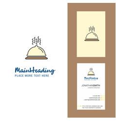 dish creative logo and business card vertical vector image