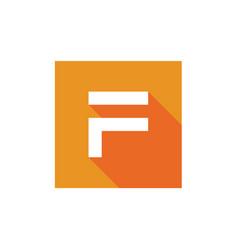 F letter logo pixel art style letter f vector
