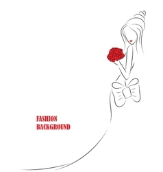 fashion background with girl or woman vector image
