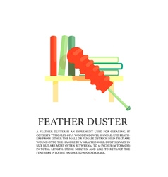 Feather duster concept vector