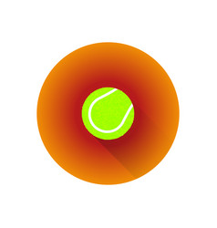 flat color tennis ball vector image