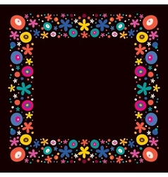 Flowers nature frame border vector
