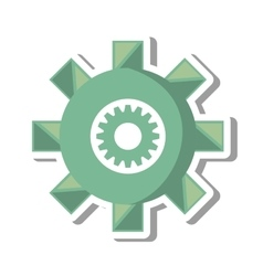 Gears machine settings isolated icon vector