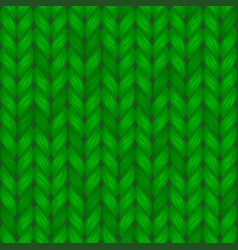 green knitted seamless pattern wool vector image