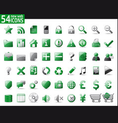green web icons vector image