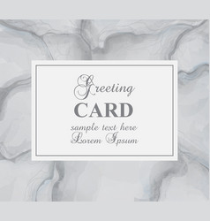 greeting card with gray marble background vector image