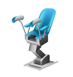 Gynecological chair isolated on white vector