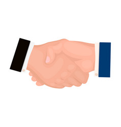 handshake e-commerce single icon in cartoon style vector image