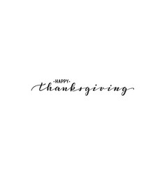 happy thanksgiving hand drawn calligraphy and vector image